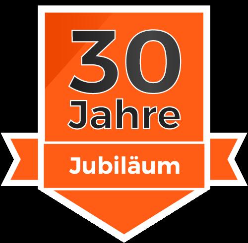 30-Jahre-Sticker